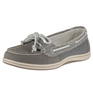 Sperry Top-Sider Women's Firefish Grey Leather Boat Shoes