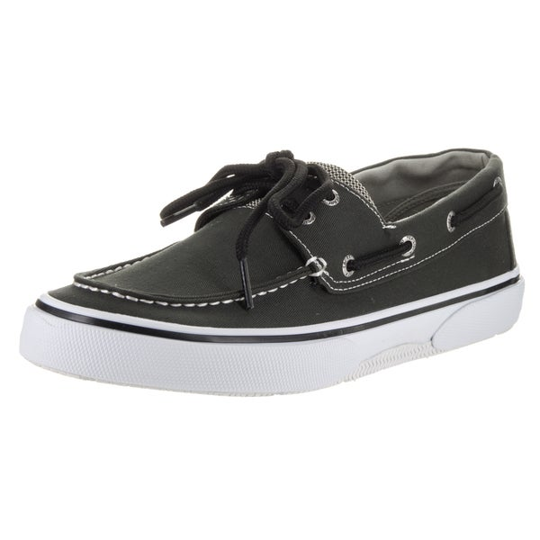 sperry top sider s halyard 2 eye black and white