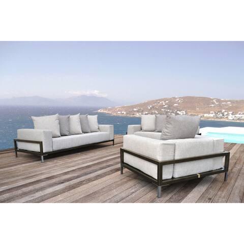 SOLIS Nubis Sofa Set Indoor Outdoor Deep Seated 3-piece Set - 1 Sofa, 1 Loveseat, 1 Lounge Chair