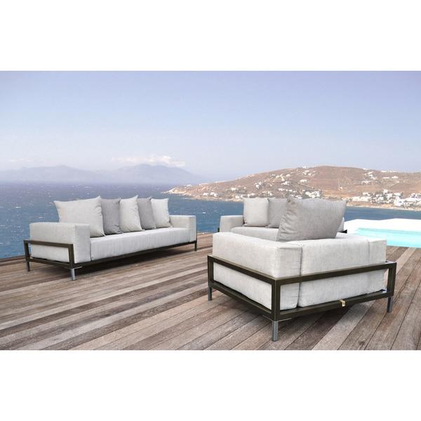 SOLIS Nubis Sofa Set Indoor Outdoor Deep Seated 3 Piece Set   1 Sofa,