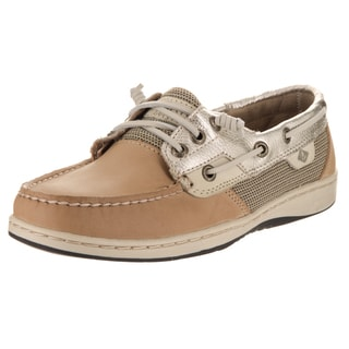 Sperry Women's Rosefish Beige Faux Leather Boat Shoe