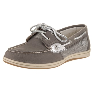 Sperry Top-Sider Women's Koifish Grey Synthetic Leather Sparkle Boat Shoes