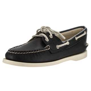 Sperry Top-Sider Women's Black Rubber/Fabric Boat Shoe