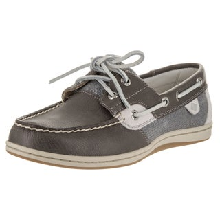Sperry Top-sider Women's Koifish Grey Synthetic Leather Waxy Boat Shoes