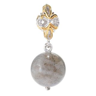 Michael Valitutti Palladium Silver Exotic Gemstone Bead Drop Charm