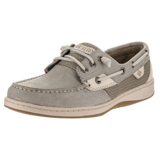 Sperry Top-Sider Women's Rosefish Grey Synthetic Leather Boat Shoes