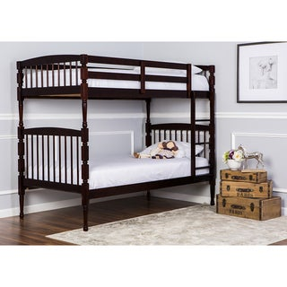 Dream On Me Julia 2-in-1 Twin Over Twin Bunk Bed