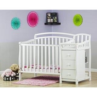 Dream On Me Casco 4-in-1 Mini Crib and Changing Table - White