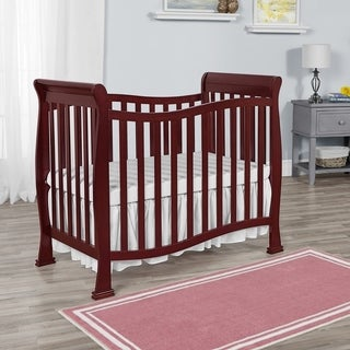 Dream on Me Piper Cherry-finished Wood 4-in-1 Convertible Mini Crib