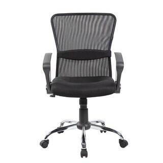 Black Mesh Mid-back Height-adjustable Swivel Task Chair