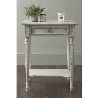 East At Main's Junction Grey Rectangular Teakwood Accent Table