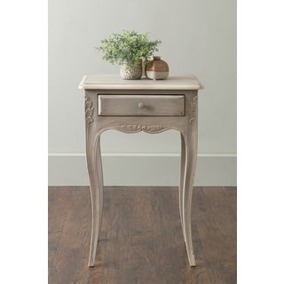 East At Main's Canal Grey Square Teakwood Accent Table