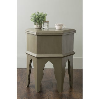 East At Main's Verona Grey Round Mahogany Accent Table