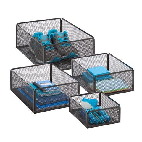Honey-Can-Do eXcessory basket set black
