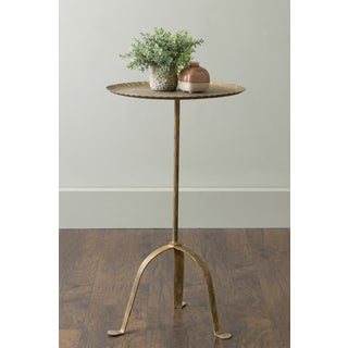 East At Main's Hooper Gold Round Aluminum Accent Table