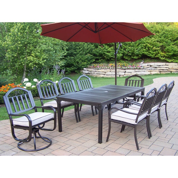 Shop Hometown Cushioned Piece Outdoor Dining Set With Ft - 10 foot outdoor dining table