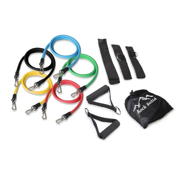 Rock Solid 11-piece Resistance Band Set