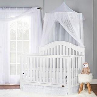 Dream On Me Charlotte White 5-in-1 Convertible Crib