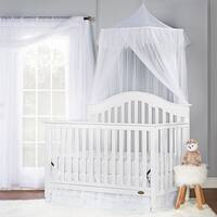 Dream On Me Charlotte White 5-in-1 Convertible Crib