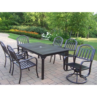 Hometown 7 Pc Dining Set with Rectangle Table, 4 Chairs and 2 Swivel Chairs