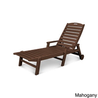 Polywood Nautical High-density Polypropylene Stackable Wheeled Chaise with Arms (5 options available)