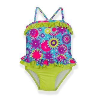 Jump 'N Splash Girls' Flower Power Multicolor 1-piece Swimsuit