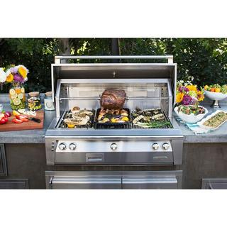 "Alfresco 42"" ALXE Sear Zone Grill Head With Rotisserie"