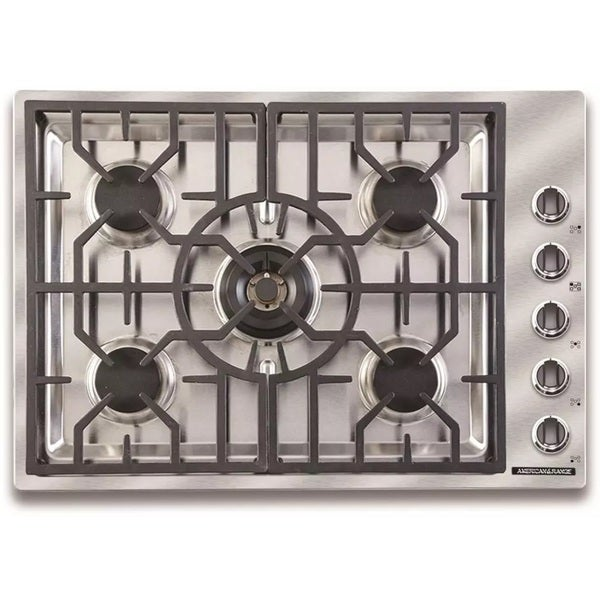 5 Burner Gas Cooktops: Shop American Range 30 Inch Vitesse 5 Burner Gas Cooktop