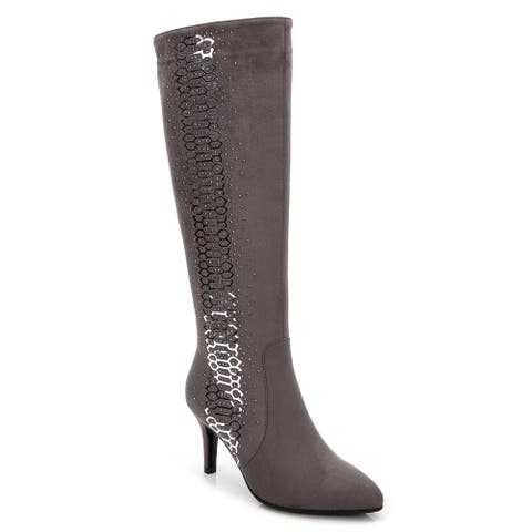 Rosewand Women's 'Toreon' Rhinestone Glittering Boots