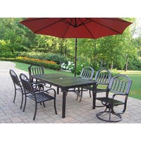 Dining Set with Table, 4 Chairs, 2 Swivel Chairs, Umbrella and Base