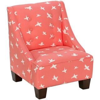 Skyline Furniture Kid's Mid-century Modern Bird Silhouette Fabric Chair