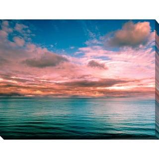 """sunset view of a sea horizon"" Giclee Print Canvas Wall Art"
