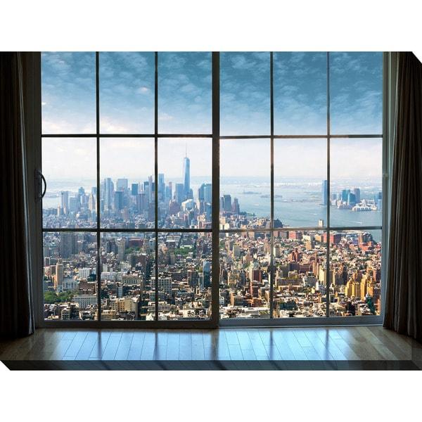 "Shop ""New York City Window"" Giclee Print Canvas Wall Art"