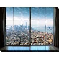 """New York City Window"" Giclee Print Canvas Wall Art"