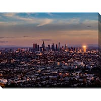 """""""Downtown Los Angeles"""" Giclee Print Canvas Wall Art"""