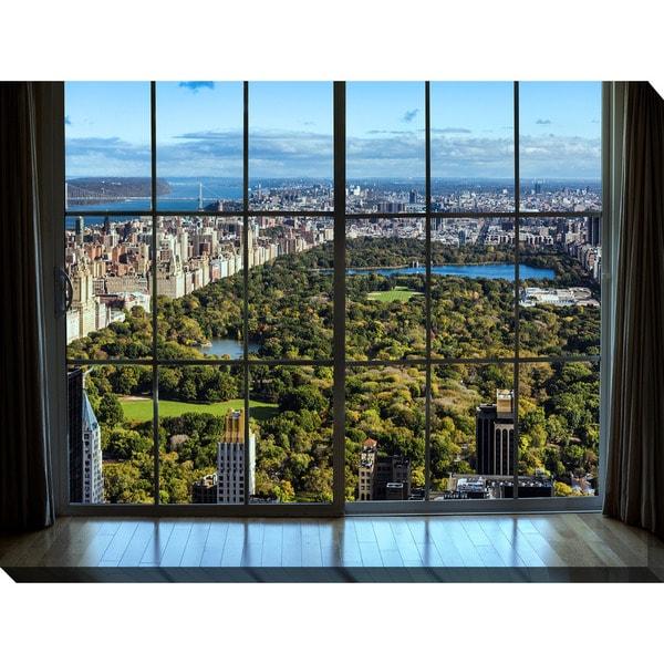 """New York Central Park I Window"" Giclee Print Canvas Wall Art"