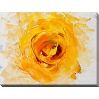 """Yellow Flower Abstract"" Giclee Print Canvas Wall Art"