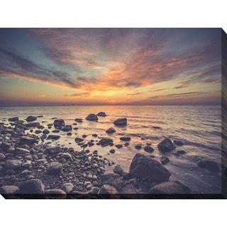 """Sunrise over the Baltic Sea. Gdynia Orlowo"" Giclee Print Canvas Wall Art"