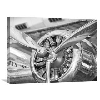 Global Gallery 'Vintage Airplane Propeller' Gallery-wrapped Canvas Wall Art