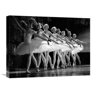 Global Gallery 'Swan Lake Ballet' Canvas Wall Art