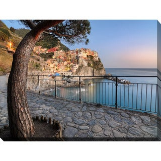"""Manarola, La Spezia, Liguria, Italy"" Giclee Print Canvas Wall Art"