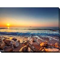 """Beautiful Sunrise over the sea"" Giclee Print Canvas Wall Art"