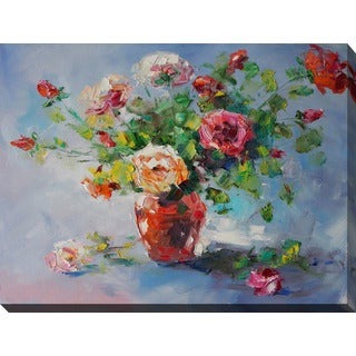 """""""Still Life with Roses"""" Giclee Print Canvas Wall Art"""