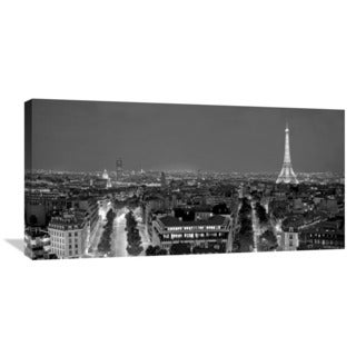 Global Gallery Vadim Ratsenskiy 'Paris at Night' Gallery-wrapped Canvas Wall Art