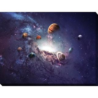 """Solar System 2"" Giclee Print Canvas Wall Art"