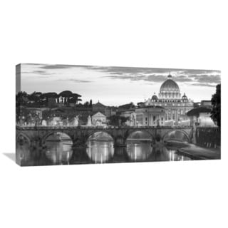 Global Gallery 'Night View at St. Peter's Cathedral, Rome' Canvas Wall Art