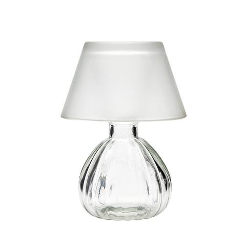 Godinger Frost Glass Lamp with Shade