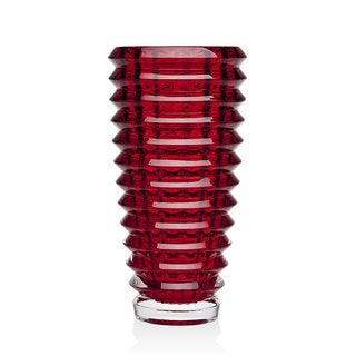 Godinger Century Red Crystal 12-inch Table Vase