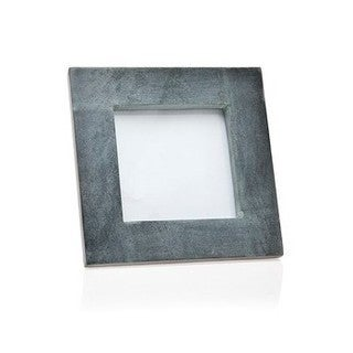 Godinger Black Marble/Resin Photo Frame 4-inch long x 4-inches wide (Blue)