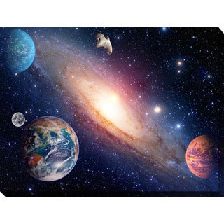 """Solar System 1"" Giclee Print Canvas Wall Art"